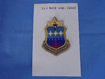 Us Air Force Usaf 320 Bomb Wing Patch  Cut Edge Heavy Bomber Bombardment