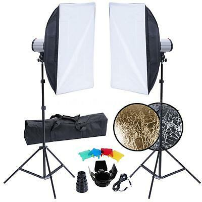 Studio Set: 2 Flash Lights, 2 Softboxes, 2 Tripods, etc. V0N6