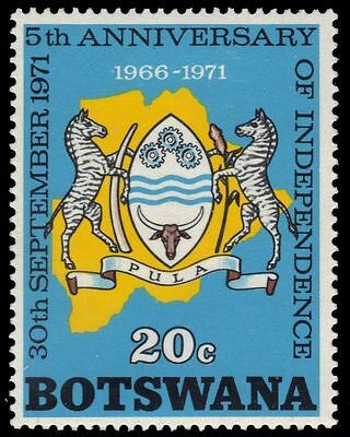 "BOTSWANA 79 (SG284) - National Independence ""Map and Coat of Arms"" (pa87778)"