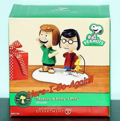 "Retired! ""marcy And Patty's Pets"" Acc. For Pet Palace Peanuts Xmas Dept 56"