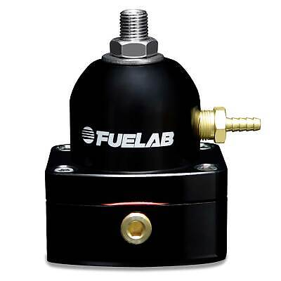 Fuelab Carburettor Fuel Pressure Regulator -6 JIC Inlet - Black  4-12 PSI