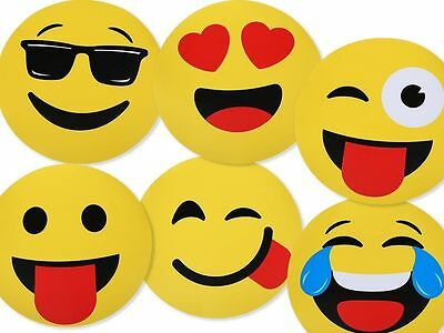 Brand New Placemats Emoticon Smiley Emoji Table Round Birthday Party 6 Designs