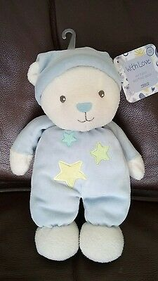 Tesco With Love My First Bedtime Bear Baby Soft Toy Comforter