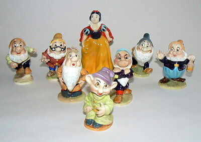 Superb Rare Full Set Of 8 Beswick Snow White & The 7 Dwarfs Figures