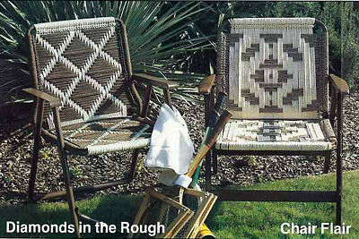 WEAVE Weaving FURNITURE FANFARE Cording CHAIR BOTTOMS Folding Chair Repair