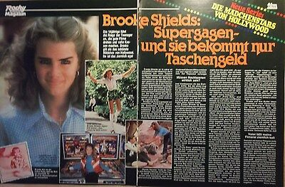 2 german clipping BROOKE SHIELDS N. SHIRTLESS ACTRESS ACTOR BOYS BOY MEN BRAVO