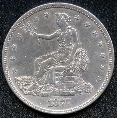 1877 'S' United States Trade Dollar ( 27.22 Grams .900 Silver )