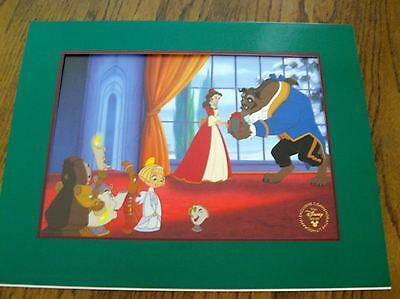 """Disney's """"beauty And The Beast-Enchanted Christmas"""" Excl. Com. Lithograph-New"""