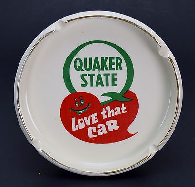 Vintage Quaker State Oil Advertising Ash Tray Love That Car