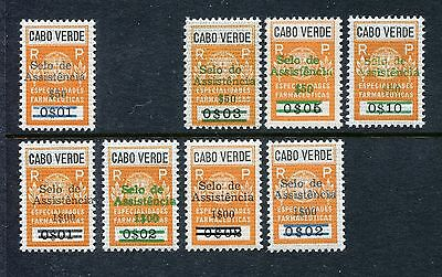 Cape Verde, Revenue stamps Surcharged in green, black, blue 1967-1972 x19301