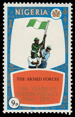 """NIGERIA 246 (SG251) - Independence """"Soldiers and Sailors with Flag"""" (pa25016)"""