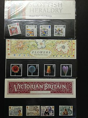 UK GREAT BRITIAN 1987 Year Mint Stamps Pack ( THREE PACKS)