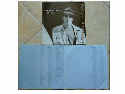 Paul Simon * Negotiations And Love Songs 1971-1986 * German 2Xlp+Inners Wb Wx223