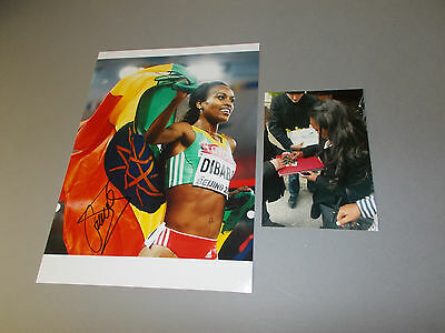 Genzebe Dibaba Gold Peking 2015  signed signiert  Autogramm 20x28 Foto in person