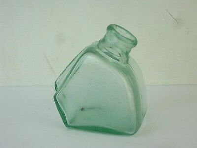 11813 Old Vintage Glass Bottle - Ink Well Inkwell - Cannon