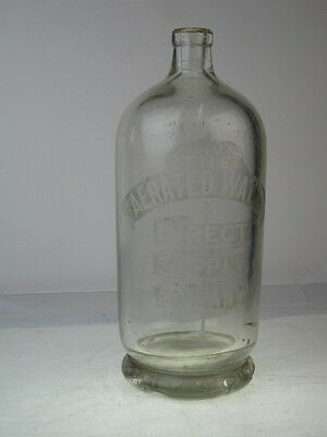 11793 Old Antique Bottle - Soda Syphon - water Direct supply Co Newcastle Codd