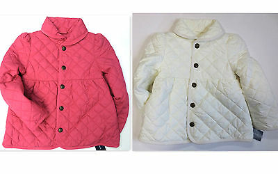 RALPH LAUREN POLO Girls Size 2 2T Jacket Kids Toddler Quilted Barn Coat NEW