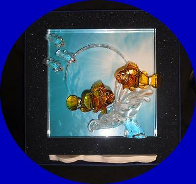 """Swarovski  WONDERS OF THE SEA """"HARMONY"""" COLORED PICTURE FRAME - SCS 2005 RETIRED"""