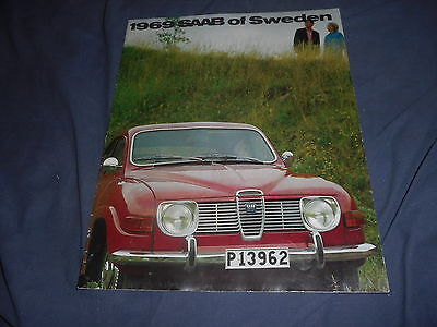 1969 SAAB 96 and 95 Wagon Color Brochure Catalog Prospekt