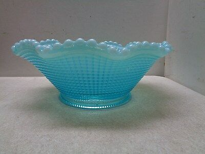 Beautiful Vintage Blue Opalescent Glass Bowl