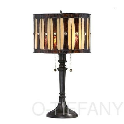 "Tiffany Style Stained Glass Table Lamp ""Contempo"" - FREE SHIP IN USA"