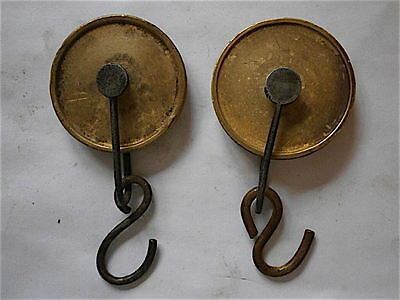 Good Pair Of Early 8 Day Line Pullys C1760