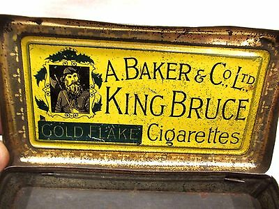 "A.Baker & C° ""King Bruce"" Cigarettes Gold Flake Virginia cigarette tin 1898"