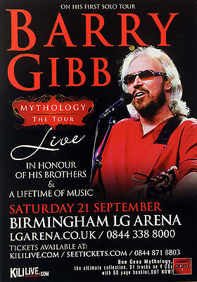 Barry Gibb - Bee Gees - Mythology Tour Flyer