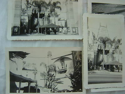 Lot of 7 Vintage 1944 Photos Grauman's Chinese Theatre Hollywood CA 773004