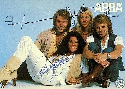ABBA Signed Photograph - Swedish Pop Stars (Eurovision Winners 1974) - preprint