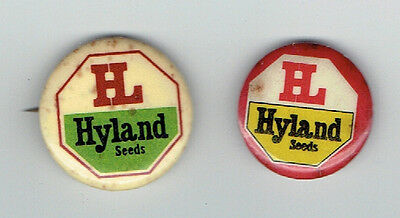 2 Different Hyland Seeds Pinback Buttons