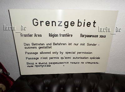 DDR NVA Grenztruppen Schild Grenzschild Grenze BERLIN East german Border sign