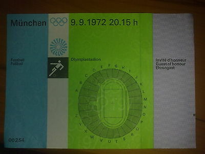 Ticket Olympic Games MÜNCHEN 1972 - FOOTBALL 9.09.1972 Poland - Hungary FINAL