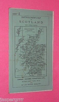 c1920 BARTHOLOMEW'S EDWARD STANFORD CYCLISTS ROAD MAP. LINEN SCOTLAND BORDERS. 5