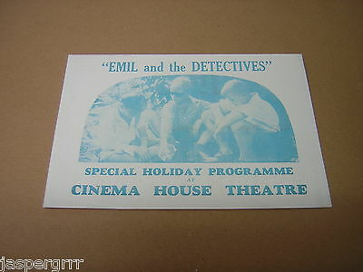 """1935. """"emil And The Detectives"""". Scarce Original Movie Film Advertising Flyer."""
