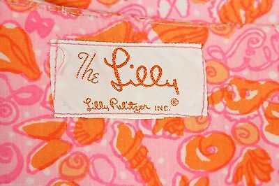 "VTG Lilly Pulitzer The Lilly A Line Skirt Pink Orange 1960s Cotton 32"" Waist"