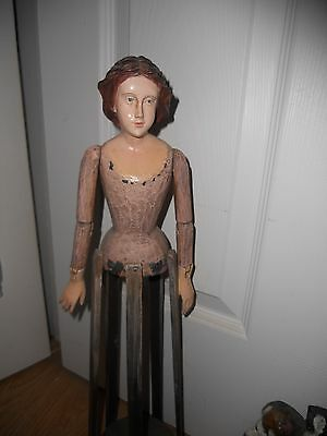 ~~~Awesome ~Santos Cage Doll~Carved Wooden Mannequin Form~Must See~~~