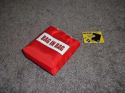 """NWT """"Bay-in-Bag"""" Reusable Tote Shopping Nylon Bag W/Pouch"""
