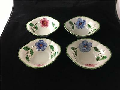 4 Blue Ridge Norma Tab Handled Cereal Bowls Colonial Body