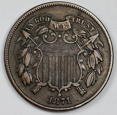 1871 Two Cent Piece.  X.F.  110531