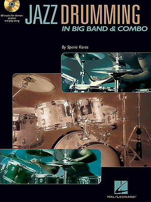 Jazz Drumming Big Band & Combo Drum Lessons Hal Leonard Play-Along Book CD NEW