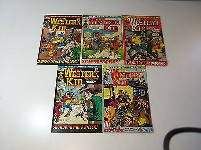 1971 Lot 5 Marvel Comics THE WESTERN KID # 1-5 (SET) Romita Williamson Art FINE