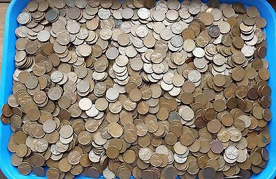 WHEAT CENTS - LOT OF 1000, 1940's AND 50's LINCOLN WHEAT CENTS
