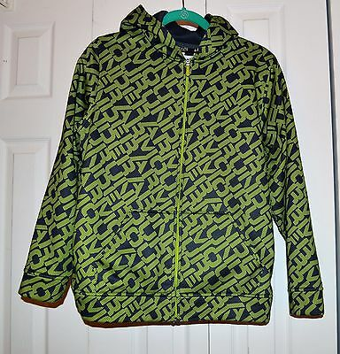 Under Armour Youth XL Loose Hoodie Kangaroo Pocket L/S Zip Green Blue Unisex