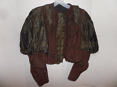 Antique Edwardian/Victorian Dress Top/Blouse-Mutton Sleeves-Silk-Lot FF