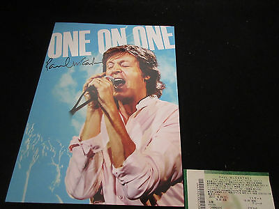Paul McCartney 2017 One on One Japan Tour Book w Ticket Beatles Concert Program
