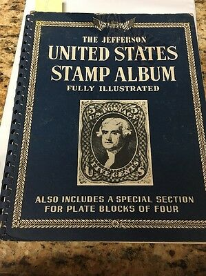 The Jefferson United States Stamp Album - 1962- 30+stamps