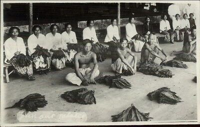 Batavia Java Indonesia Locals Natives Ethnography Real Photo Postcard #5