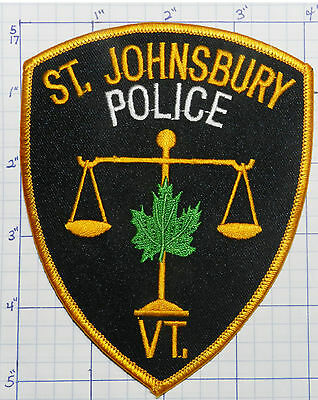 Vermont, St. Johnsbury Police Dept Black Patch