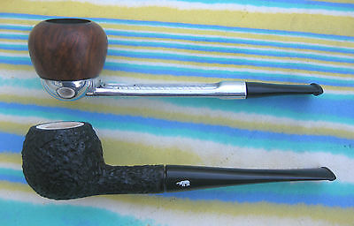2 Pipes - Vintage Tanganyika Meerschaum Corporation Pipe #79 & Falcon #an10